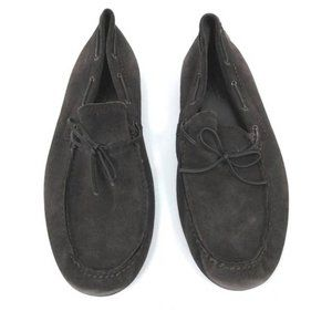 COACH 'Japer' Chocolate Brown Suede Loafers 13 D